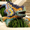 The famous dragon in Antoni Gaudi's Parque Güell in Barcelona, Spain