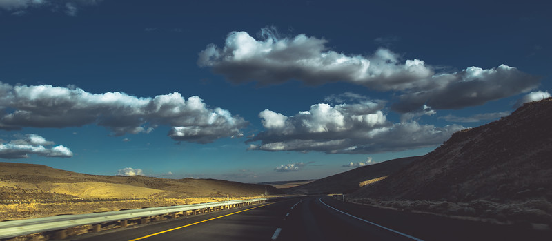 I-90 eastbound, approaching Vantage WA