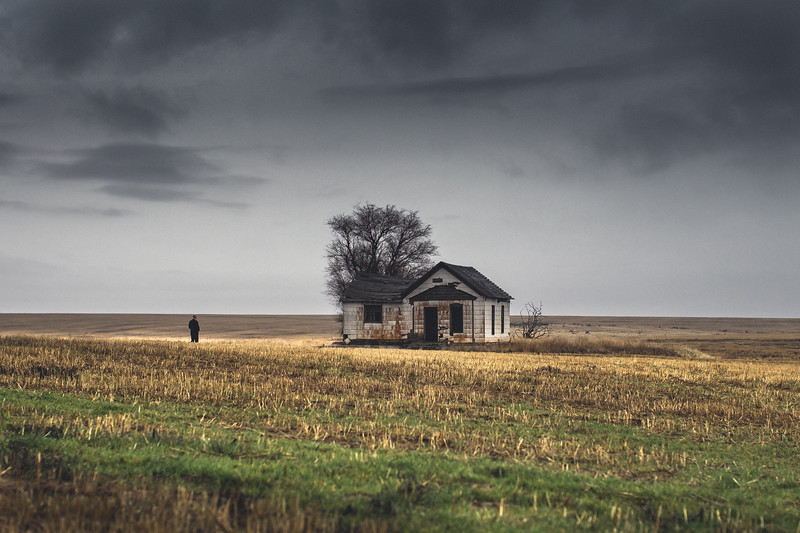 Abandoned Farmhouse and my brother, spring 2019