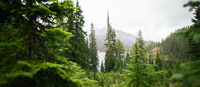 over Snow Lake
