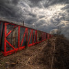 Red Tattered Boxcar