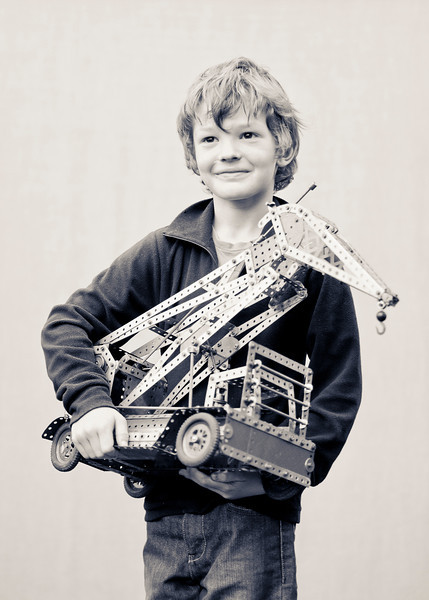 James  <br /> <br /> I chose Meccano because I like making models with it with my Dad.  I think gears are the best.
