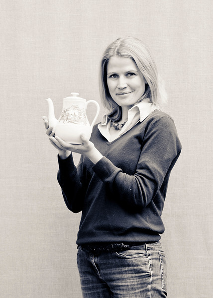 Nancy<br /> <br /> I chose to be photographed with my Wedgwood teapot for two reasons. Firstly,  because I think it is an attractive piece of ceramic but mainly because of its purpose, namely making tea! Nothing tastes and feels so good as a cup of tea made in a proper teapot!