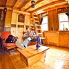 Knotty pine - classic cabin feeling <br /> Lesser expensive material than reclaimed wood or other new wood<br /> Kind of cool vibe