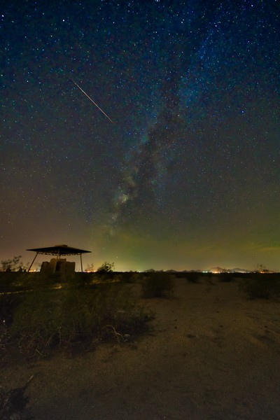Casa Grande Ruins with Milky Way