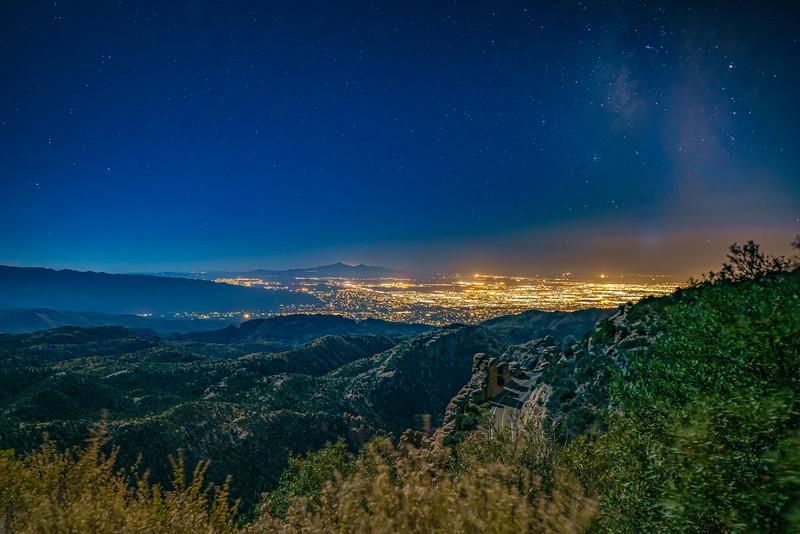 Moonshine Washes Over Tucson Az.