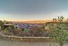 Sunset Cabin Window View