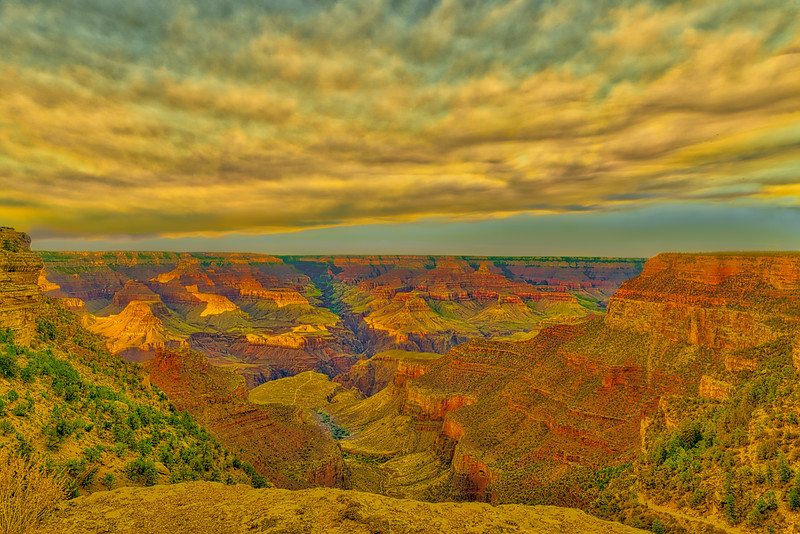 Grand Canyon Sunset on Bright Angel Trail