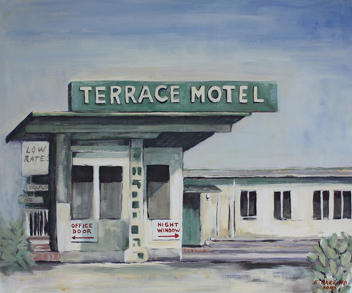 Terrace Motel      Acrylic on Canvas      20x24  SOLD