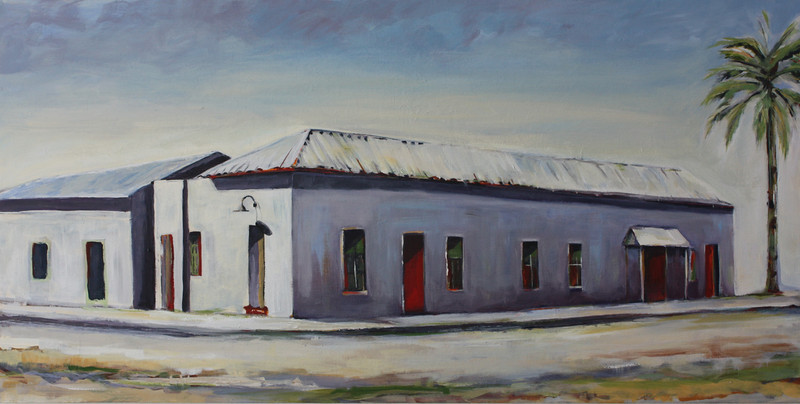 West Cushing Street, 18x36 Acrylic, 2011 SOLD