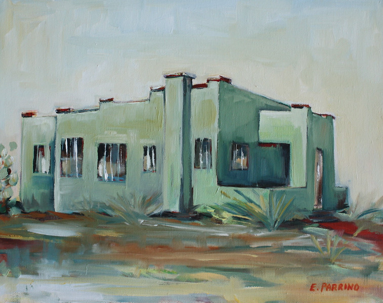 MintHouse2, oil on canvas, 11x14  SOLD