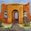 Orange Adobe 11x14 Acrylic on Canvas 2009  SOLD