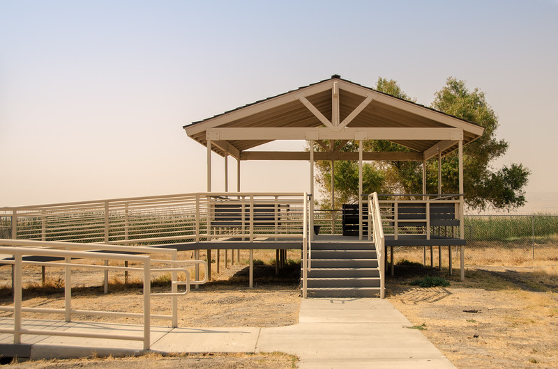 Viewing platform at the entrance to the Tule Elk State Nature Reserve