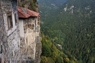 View from Sumela Monastery, northeastern Turkey.