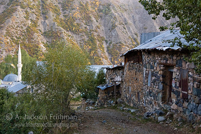 Evening in mountain village near Bayburt, Turkey.