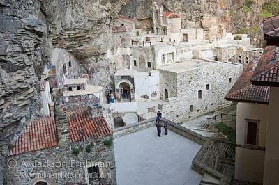 Interior of Sumela Monastery, northeastern Turkey.
