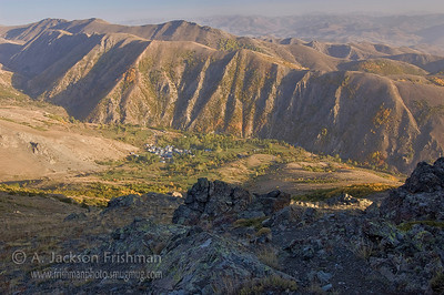 Mountain village near Bayburt, Turkey.