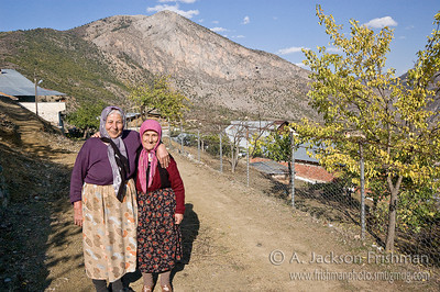 Village women near Karaca Cavern, Gümüşhane, Turkey.