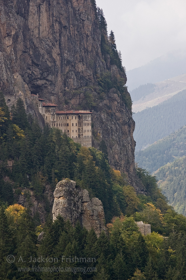 Sumela Monastery in Turkey's Black Sea hinterland.