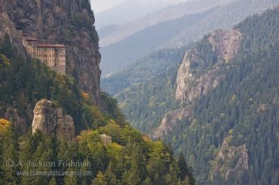 Sumela Monastery in Turkey's Black Sea hinterland.