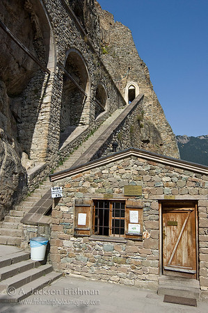 The entrance to Sumela Monastery, northeastern Turkey.