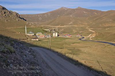 Village of Taş Köprü (Stone Bridge) in the Black Sea High Country near Gümüşhane.