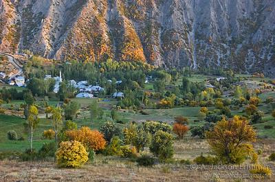 Mountain village in autumn, Bayburt Province, Northeastern Turkey, October 2009.