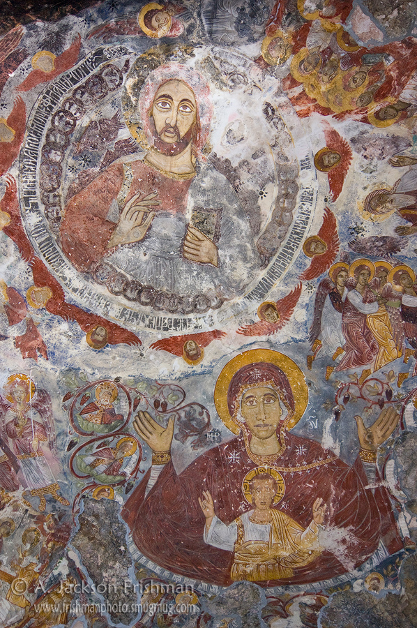 Iconography in Sumela Monastery, northeastern Turkey.
