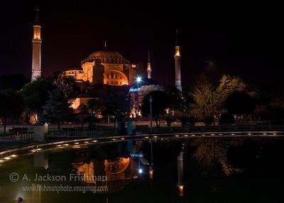 Aya Sofya at night, Istanbul.