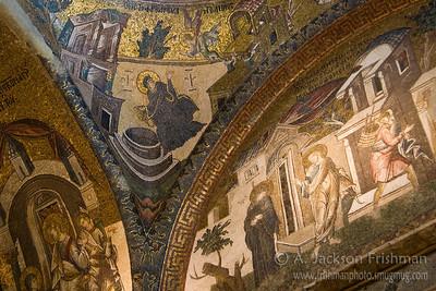 Mosaics in Chora Church, Istanbul.