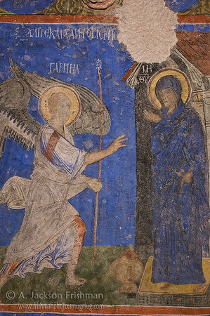 11th Century Annunciation Icon, Tokalı Church, Cappadocia.