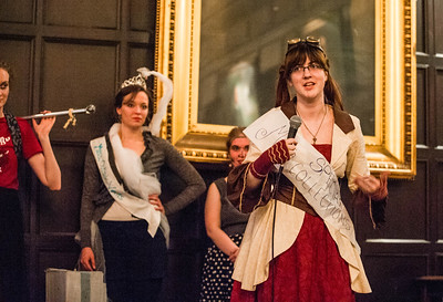 University students participate in the annual  Scav Hunt during a  Regenstein-themed beauty pageant, Thursday, May 7, 2015 at Hutchinson Commons. (photo by Jean Lachat)