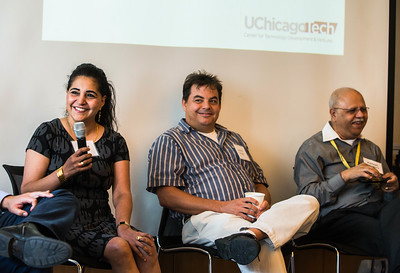 UChicagoTech hosts examiners from the US Patent and Trademark Office for a Q & A  session, Tuesday, July 14, 2015, at the Gordon Center. (photo by Jean Lachat)