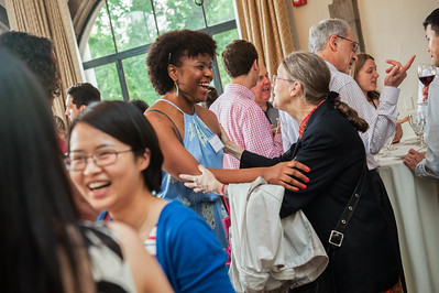 "Post-doctoral graduates enjoy the ""Toast the Doctors"" event Wednesday, June 10, 2015 at the Quad Club. (photo by Jean Lachat)"