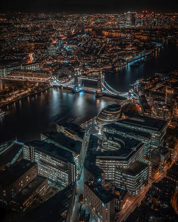 Views form The Shard, London.