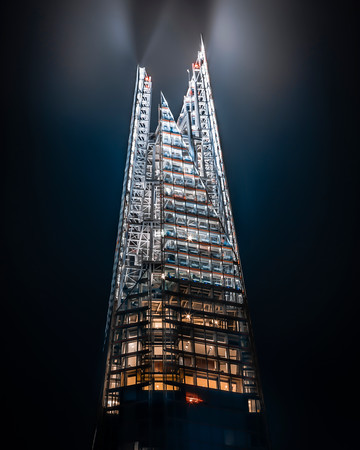 Close up of The Shard