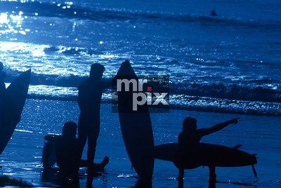 Blue Moon Light Surfing - Action Lifestyle Photography
