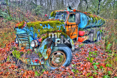 old truck in the valley