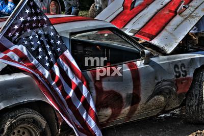 backyard dirt track racing.