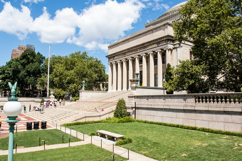 NEW YORK CITY. UPPER MANHATTAN. COLUMBIA UNIVERSITY. LIBRARY.