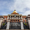 Exterior of the Massachusetts State House in Boston, Massachusetts, USA
