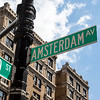 NEW YORK CITY. MANHATTAN. AMSTERDAM AV. SIGN.