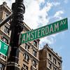 NEW YORK CITY. MANHATTAN. AMSTERDAM AV. SIGN.