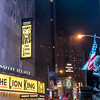 NEW YORK CITY. MANHATTAN. BROADWAY. LION KING THEATRE.