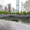NEW YORK CITY. MANHATTAN. 9-11 TWIN TOWERS MEMORIAL.