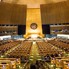 NEW YORK CITY. MANHATTAN. UNITED NATIONS HEADQUARTERS. UN GENERAL ASSEMBLY HALL.