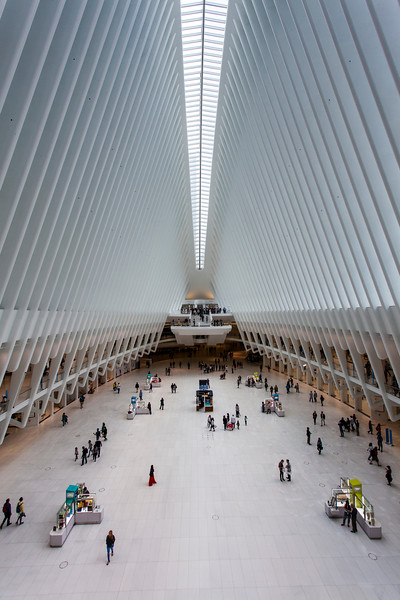 NEW YORK CITY. MANHATTAN. THE OCULUS METRO STATION.