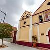 Our Lady Queen of Angels Catholic Church (Iglesia de Nuestra Señora la Reina de los Ángeles) in downtown Los Angeles, California, USA