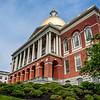Exterior of the Massachusetts State House in Boston, Massachusetts, USA