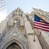 NEW YORK CITY. MANHATTAN. 5TH AVENUE. FACADE OF THE ST. THOMAS EPISCOPAL CHURCH.